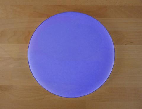 Chopping Board in Polyethylene round diameter 30 cm blue - thickness 15 mm