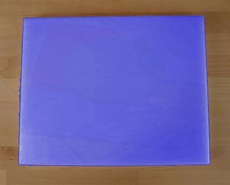 Chopping Board in Polyethylene rectangular 40X50 cm blue - thickness 10 mm
