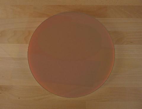 Chopping Board in Polyethylene round diameter 30 cm brown - thickness 10 mm