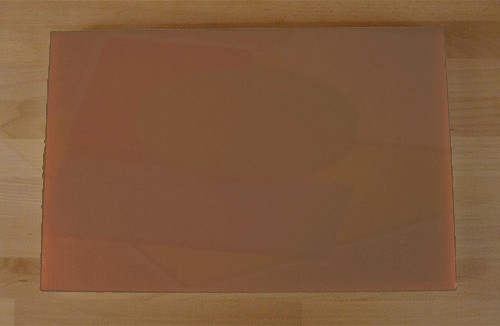 Chopping Board in Polyethylene rectangular 40X60 cm brown - thickness 15 mm