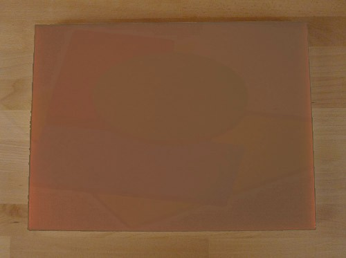 Chopping Board in Polyethylene rectangular 30X40 cm brown - thickness 80 mm