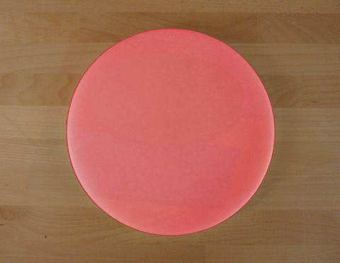 Chopping Board in Polyethylene round diameter 30 cm red - thickness 20 mm