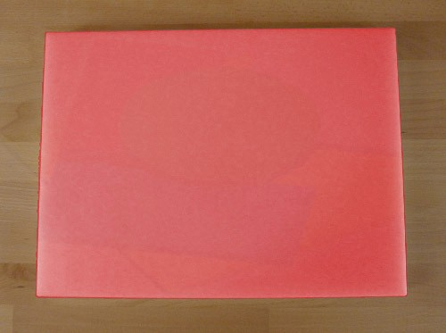 Chopping Board in Polyethylene rectangular 30X40 cm red - thickness 80 mm