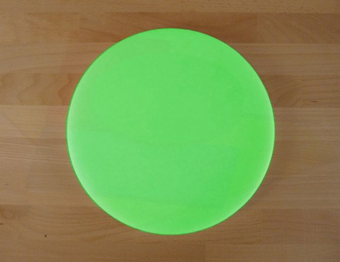 Chopping Board in Polyethylene round diameter 30 cm green - thickness 80 mm