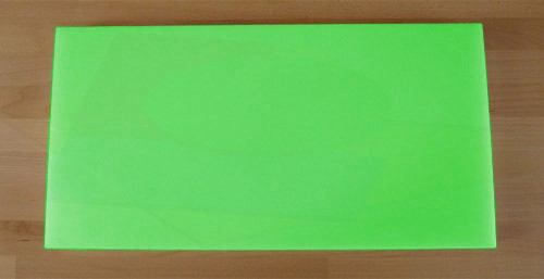 Chopping Board in Polyethylene rectangular 40X80 cm green - thickness 10 mm