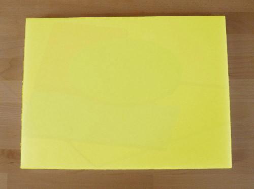 Chopping Board in Polyethylene rectangular 30X40 cm yellow - thickness 10 mm