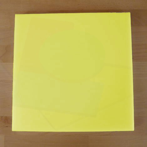 Chopping Board in Polyethylene square 50X50 cm yellow - thickness 50 mm