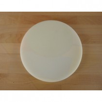 Chopping Board in Polyethylene round diameter 40 cm white - thickness 50 mm
