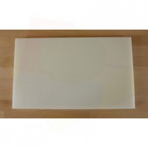 Chopping Board in Polyethylene rectangular 30X50 cm white - thickness 10 mm