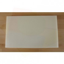 Chopping Board in Polyethylene rectangular 50X80 cm white - thickness 80 mm