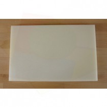 Chopping Board in Polyethylene rectangular 40X60 cm white - thickness 80 mm
