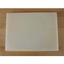 Chopping Board in Polyethylene rectangular 30X40 cm white - thickness 15 mm