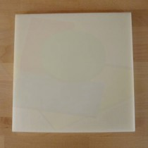 Chopping Board in Polyethylene square 40X40 cm white - thickness 25 mm