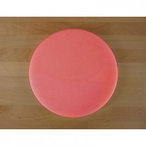 Chopping Board in Polyethylene round diameter 50 cm red - thickness 15 mm