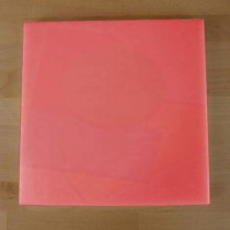 Chopping Board in Polyethylene square 60X60 cm red - thickness 100 mm