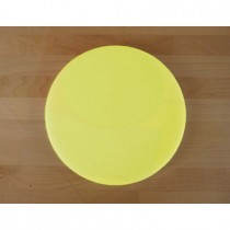 Chopping Board in Polyethylene round diameter 30 cm yellow - thickness 25 mm