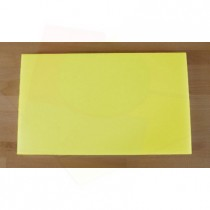 Chopping Board in Polyethylene rectangular 30X50 cm yellow - thickness 80 mm