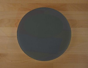 Chopping Board in Polyethylene round diameter 30 cm slate-effect black - thickness 10 mm