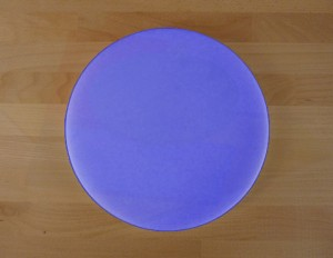 Chopping Board in Polyethylene round diameter 30 cm blue - thickness 10 mm