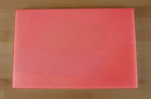 Chopping Board in Polyethylene rectangular 40X60 cm red - thickness 15 mm