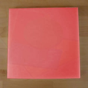 Chopping Board in Polyethylene square 50X50 cm red - thickness 15 mm