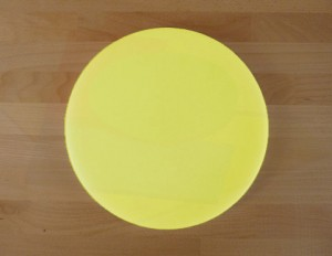Chopping Board in Polyethylene round diameter 30 cm yellow - thickness 10 mm